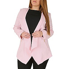 Emily - Pink waterfall zip detail jacket