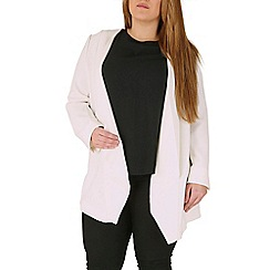 Emily - Cream waterfall zip detail jacket