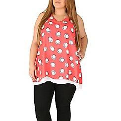 Emily - Pink chiffon layered split back top
