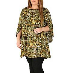 Emily - Green angel sleeve blouse top
