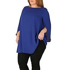 Emily - Blue emily angel sleeve blouse top