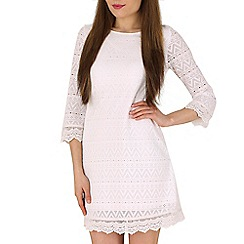 Izabel London - Cream lace dress with 3/4 sleeves