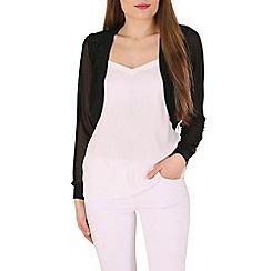 Izabel London - Black long sleeve shrug knitwear cardigan