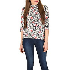 Poppy Lux - Multicoloured tamsin floral top