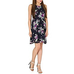 Mela - Navy birds and flowers dress