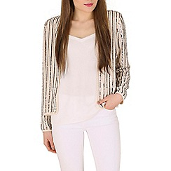 Mela - Cream sequin jacket