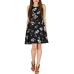 Mela - Navy large flower dress
