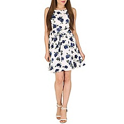 Mela - Navy summer flower dress