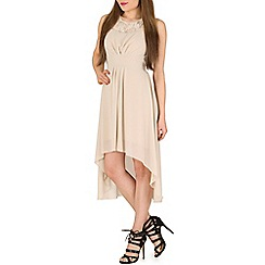 Mela - Cream high low lace dress
