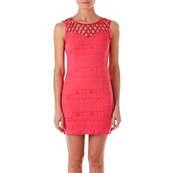 Zibi London - Pink diamante lattice dress
