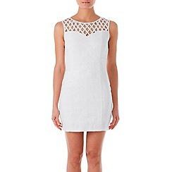 Zibi London - White diamante lattice dress