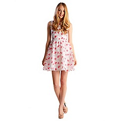 Zibi London - Pink organza floral printed dress