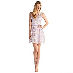 Zibi London - Lilac organza floral sash dress