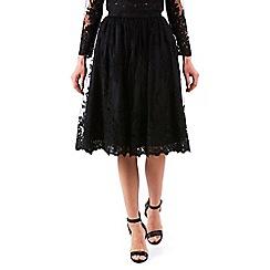 Zibi London - Black guipure lace skirt