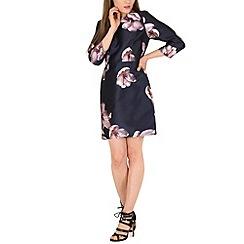 Amaya - Navy floral print dress