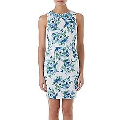 Zibi London - Blue floral print necklace dress