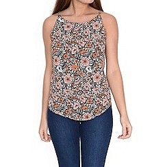 Alice & You - Peach printed sleeveless top