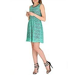 Lili London - Green maila lace dress