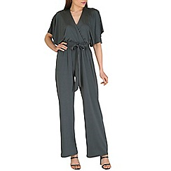 Lili London - Olive impluse wrap front jumpsuit
