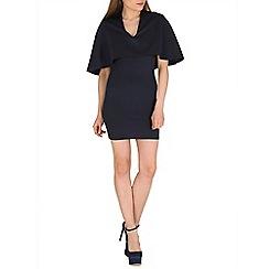 Lili London - Navy ilusion cape dress