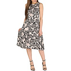 Sugarhill Boutique - Black lliza zebra party midi