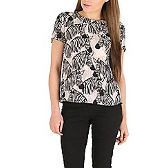 Sugarhill Boutique - Black lola zebra party top