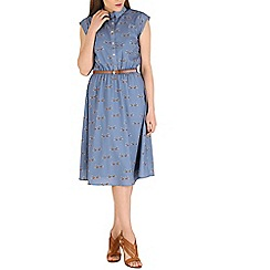 Sugarhill Boutique - Blue charlie folk bird dress
