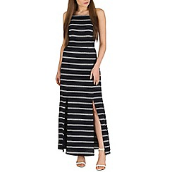 Sugarhill Boutique - Navy mo stripe maxi dress