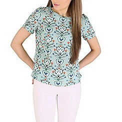 Sugarhill Boutique - Green hilary butterfly fiesta top