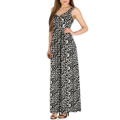 Mela Multicoloured leopard print maxi dress