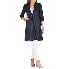 Mela - Blue contrast fabric jacket