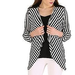 Mela - Black stripe print jacket