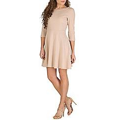 Izabel London - Cream pleated skater dress