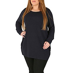 Samya - Navy casual dipped top