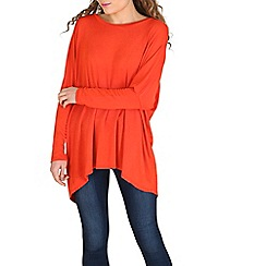 Amaya - Peach asymmetric tunic top