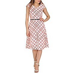 Stella Morgan - Cream geo print dress
