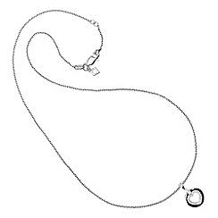 Diamonfire - Silver open heart necklace