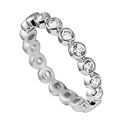 Diamonfire - Silver classic crafted ring