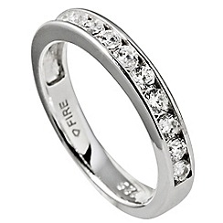 Diamonfire - Silver half eternity ring