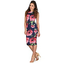 AX Paris - Navy floral high neck dress