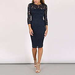 AX Paris - Navy all over lace dress