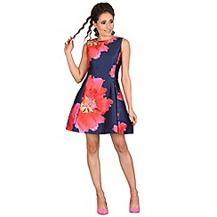 AX Paris - Navy floral print skater dress