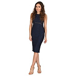 AX Paris - Navy high neck midi dress