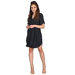 AX Paris - Navy wrap front chiffon dress