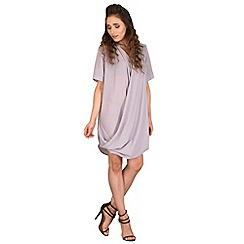 AX Paris - Grey wrap front chiffon dress
