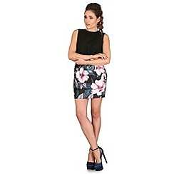 AX Paris - Black floral skirt dress