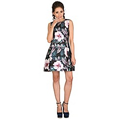 AX Paris - Black floral skater dress