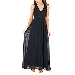 AX Paris - Navy floral lace maxi dress