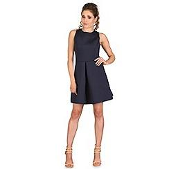 AX Paris - Navy pleat front dress