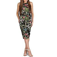 Izabel London - Green multi coloured floral dress
